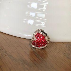 Chamilia Kiss Me Silver and Swarovski Charm Bead